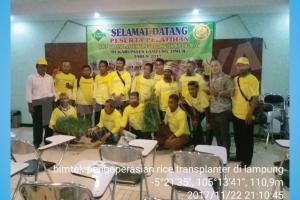 Bimtek Pengoperasian Rice Transplanter Di Lampung Timur 22-23 November 2017