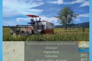 Pelatihan Dan Perawatan Combine Harvester MEGATRON HT88 Di Kabupaten Manokwari Selatan