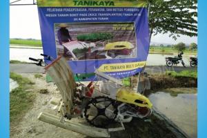 Pelatihan dan Uji Coba Mesin Rice Transplanter di Tuban 18 Juli 2016